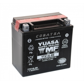 Batería moto YTX14L-BS Yuasa AGM 12V. 12Ah.